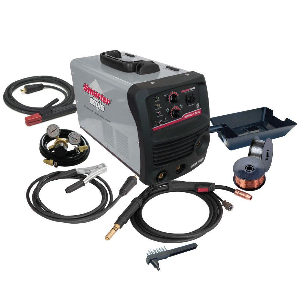 018cb1a1cbf8 Smarter Tools 180 Amp Dual Voltage Inverter MIG/Stick Welder
