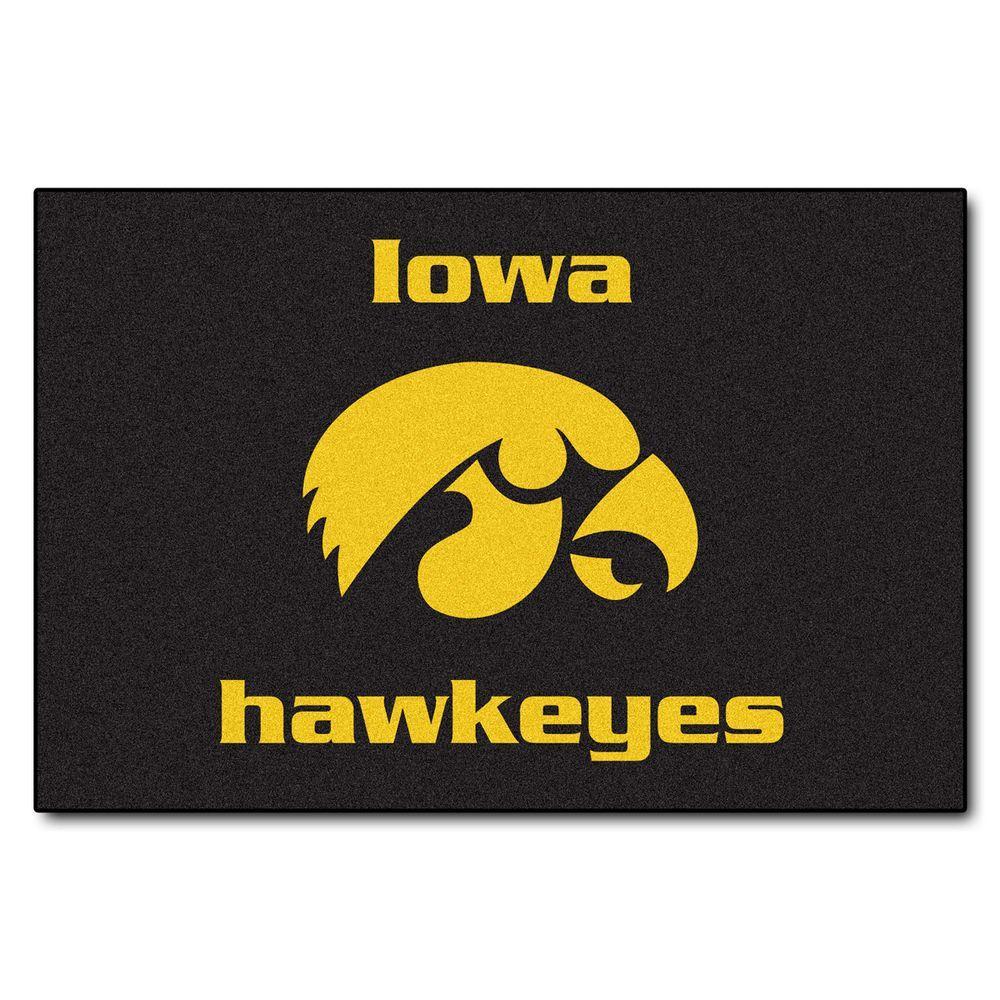 University of Iowa 19 in. x 30 in. Accent Rug