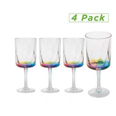 13 oz. Wine Glass, Acrylic Drinking Glass, Shatter-Resistant Plastic, Kitchenware, Drinkware, Clear (4-Pack)