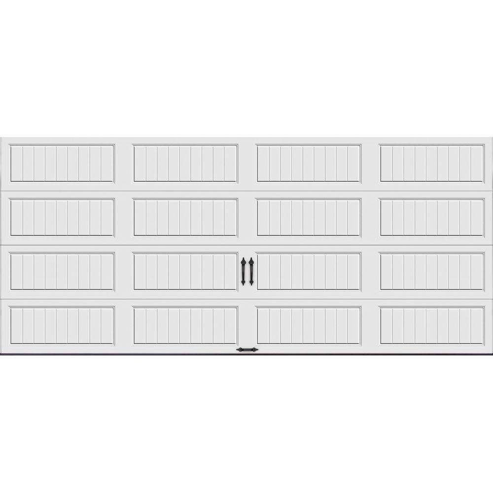 Clopay Gallery Collection 16 ft. x 7 ft. 6.5 R-Value Insulated Solid White Garage Door