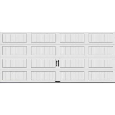 Gallery Collection 16 ft. x 7 ft. 6.5 R-Value Insulated Solid White Garage Door