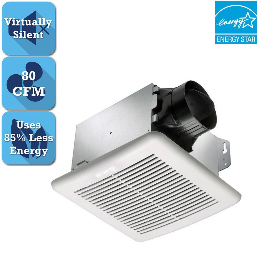 Hampton bay 80 cfm no cut ceiling humidity sensing bath fan 7134 01 greenbuilder series 80 cfm ceiling bathroom exhaust fan energy star aloadofball Choice Image