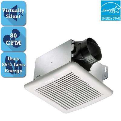 GreenBuilder Series 80 CFM Wall or Ceiling Bathroom Exhaust Fan, ENERGY STAR