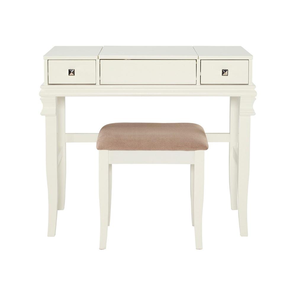 Linon Home Decor Angela 2-Piece White Vanity Set-98373WHT