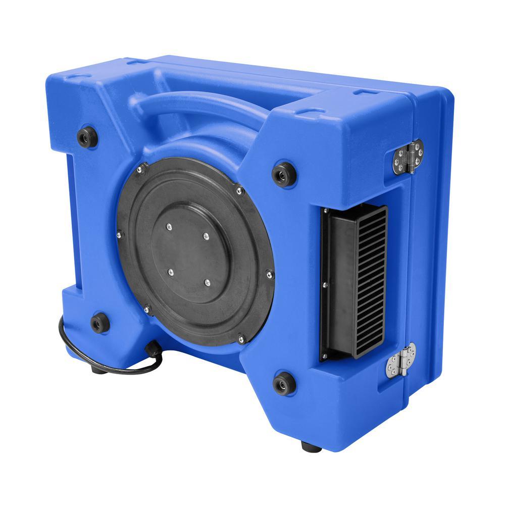 1/3 HP 2.5 Amp HEPA Air Purifier Scrubber for Water Damage Restoration Negative Air Machine in Blue