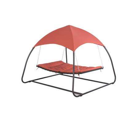 Pyramid 8.85 ft. Spun Polyester Hammock with Canopy