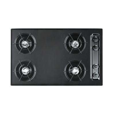 30 in. Gas Cooktop in Black with 4 Burners