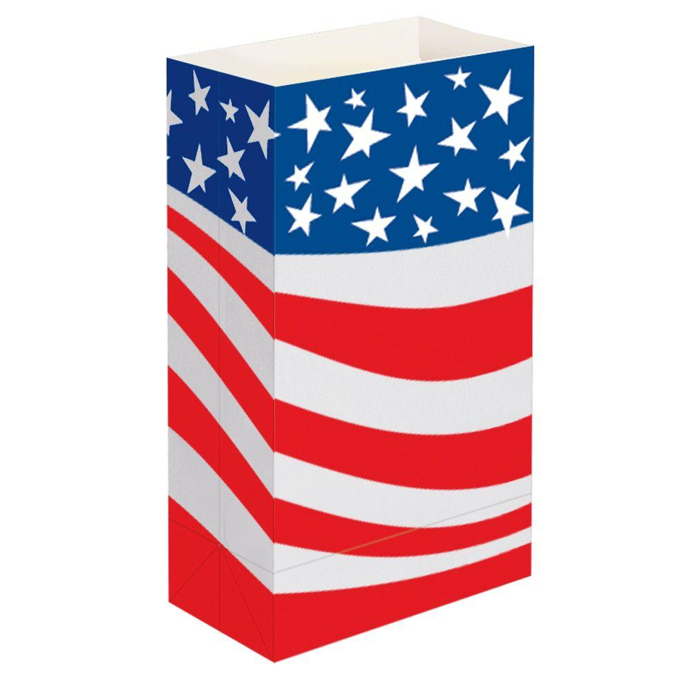 Lumabase Flame Resistant Paper Luminaria Bags in Americana (100-Pack)-DISCONTINUED