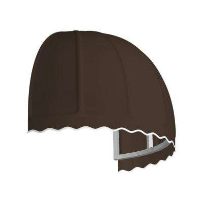 4.38 ft. Wide Bostonian Window/Entry Awning (33.25 in. H x 26.25 in. D) in Brown