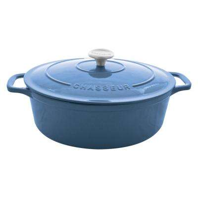 4 Qt. Blue Enamel Cast Iron Dutch Oven