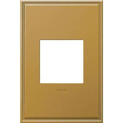 1-Gang 2 Module Wall Plate - Antique Bronze with Beaded Border