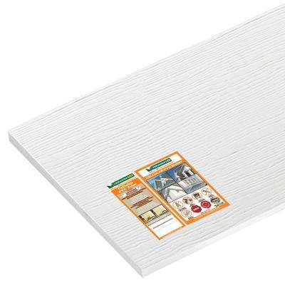 3/4 in. x 48 in. x 8 ft. White Reversible PVC Trim/Sheet