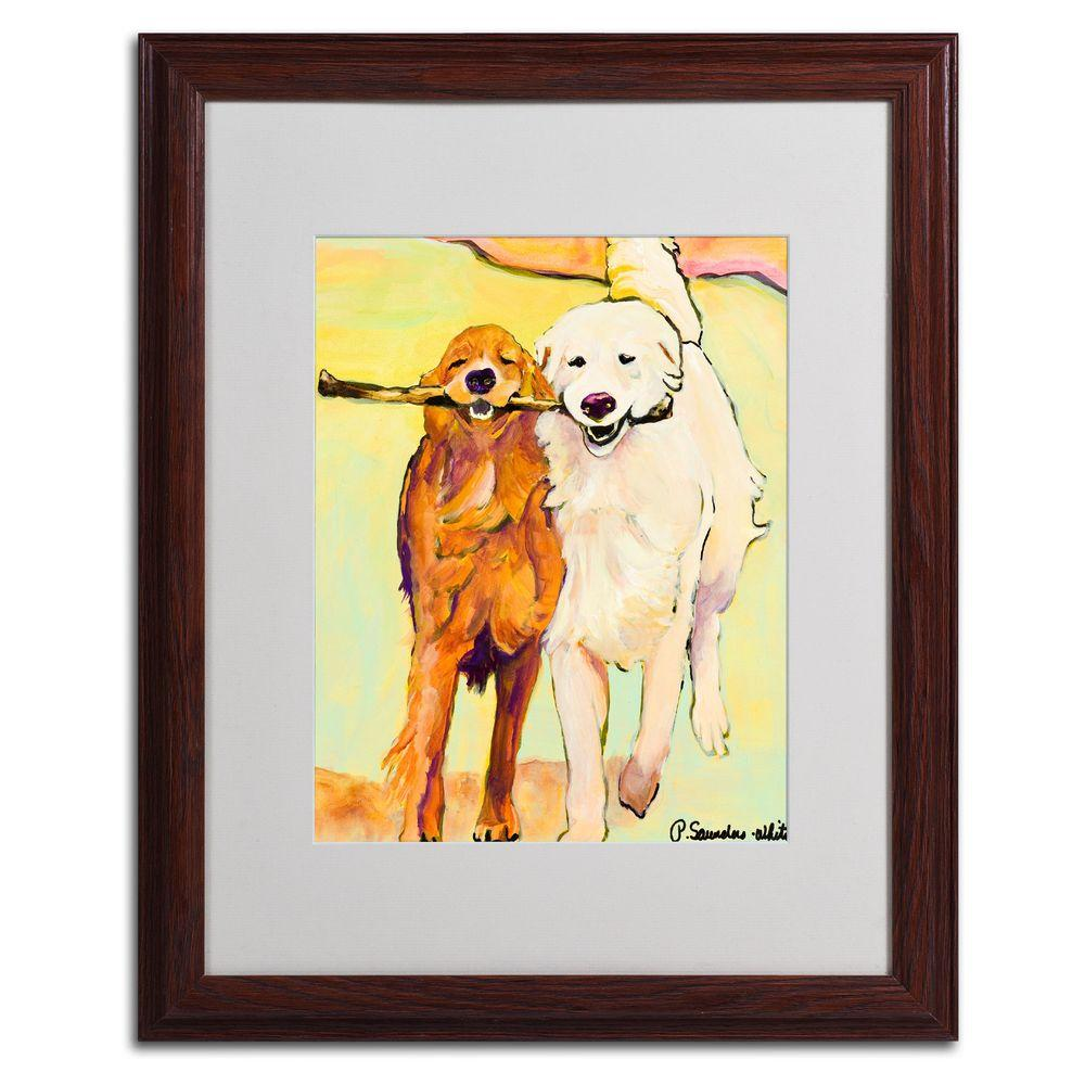 Trademark Fine Art 16 in. x 20 in. Stick with Me 1 Matted Framed Wall Art