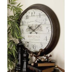 28 inch Vintage Russet Round Wall Clock