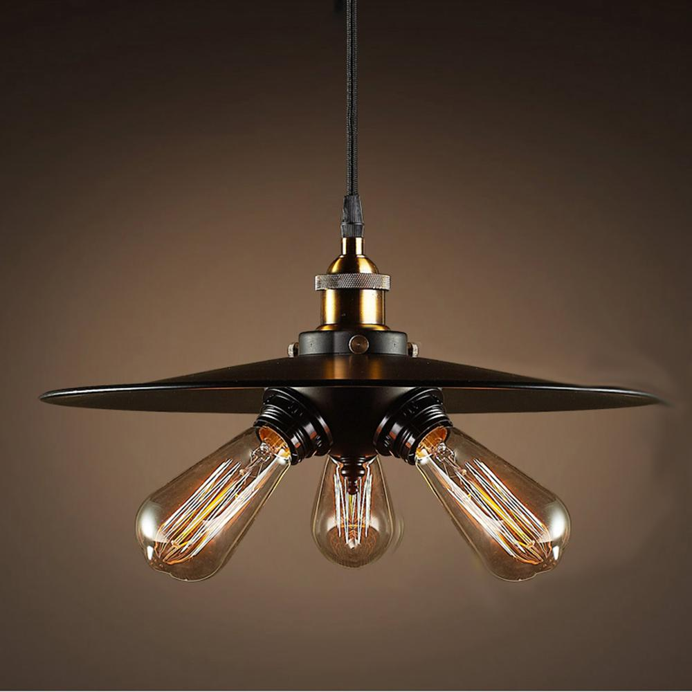 cdd4e17d99e0 Edison Shandi Collection 3-Light Black Indoor Pendant-LD4032 - The Home  Depot
