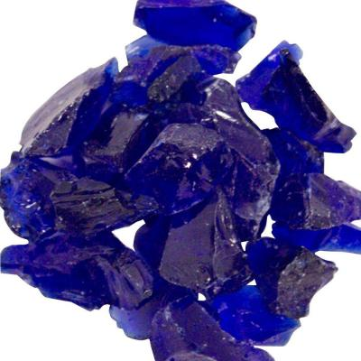 0.75 in. Cobalt Blue Recycled Fire Glass