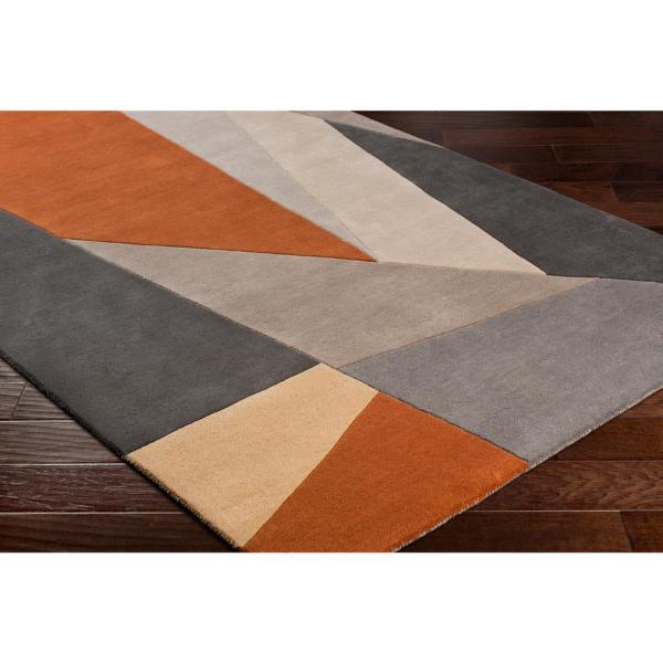 Artistic Weavers Skadi Burnt Orange 5 Ft X 8 Ft Abstract Area Rug S00161012932 The Home Depot
