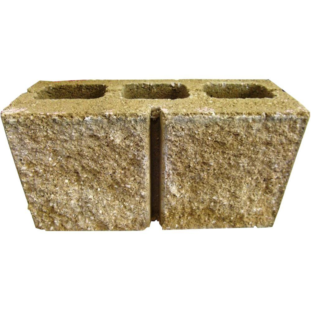 6 in. x 8 in. x 16 in. Yellow Face Concrete