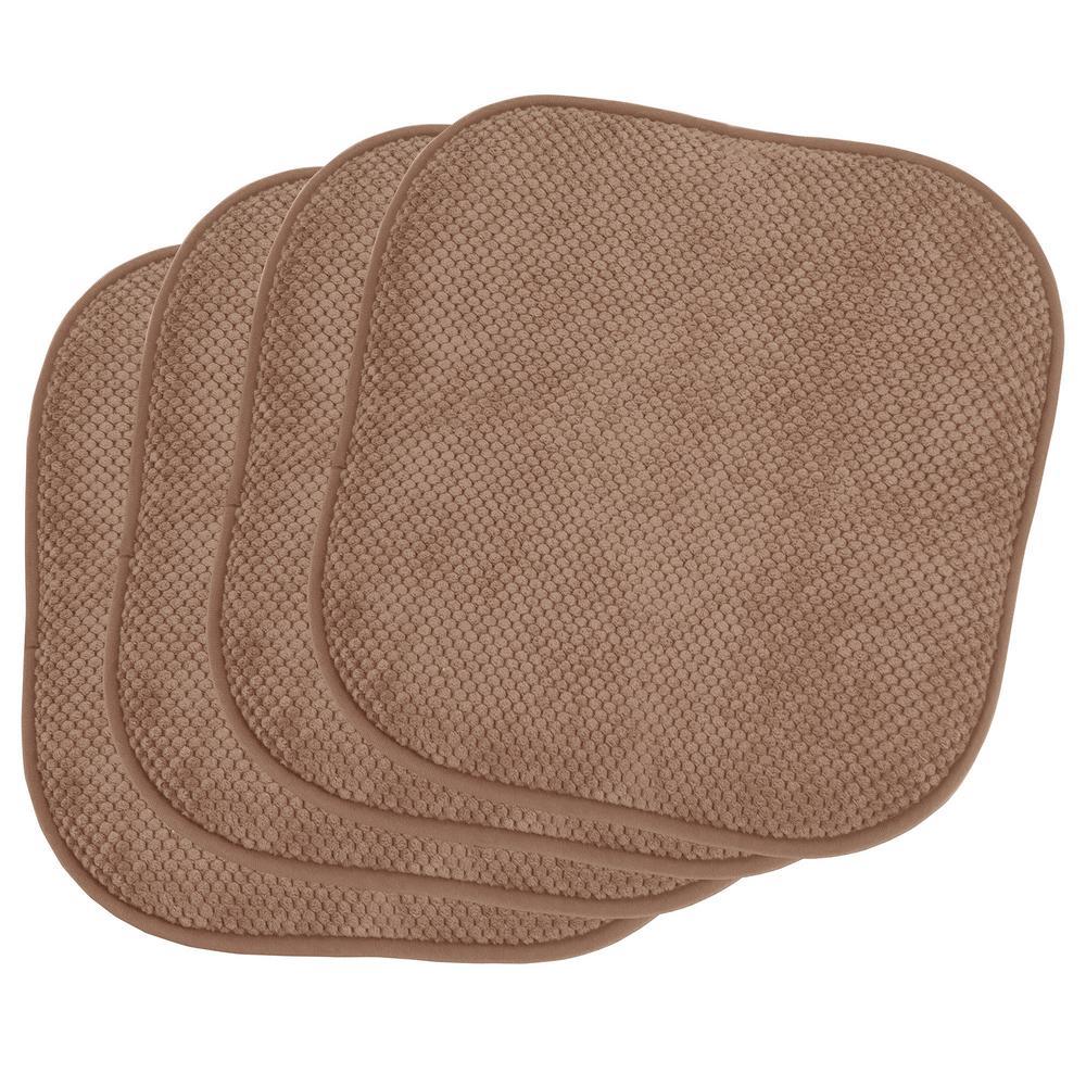 BounceComfort Bon Appetite Linen 4 Piece Cushioned Chair Pad Set