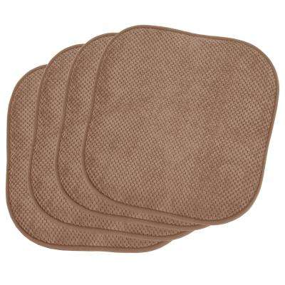 Bon Ee Linen 4 Piece Cushioned Chair Pad Set