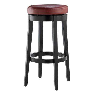 Red Cushioned Swivel Bar Stool in Black  sc 1 st  The Home Depot : red bar stool chairs - islam-shia.org