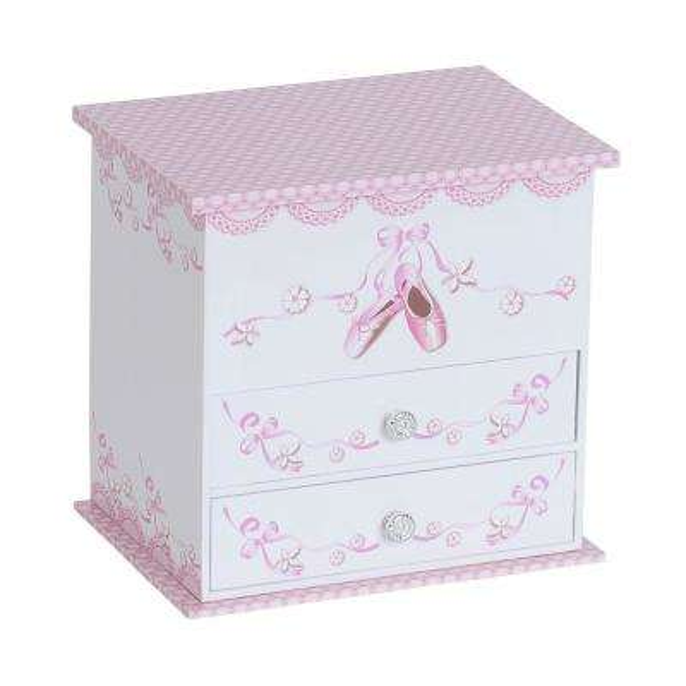 Angel Girl's White Fashion Paper Musical Ballerina Jewelry Box