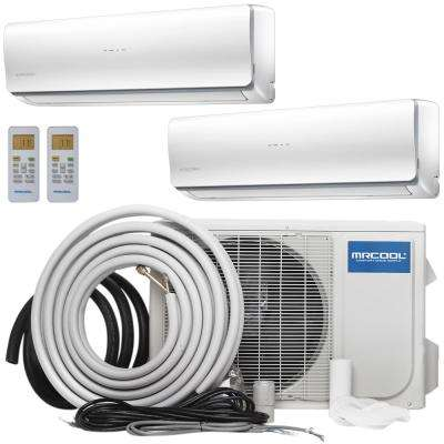 Olympus 36,000 BTU 3 Ton Ductless Mini-Split Air Conditioner and Heat Pump, 25 ft. Install Kit - 230-Volt/60Hz