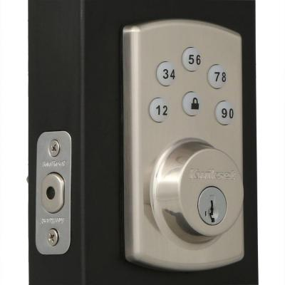 Powerbolt2 Satin Nickel Single Cylinder Electronic Deadbolt Featuring SmartKey Security