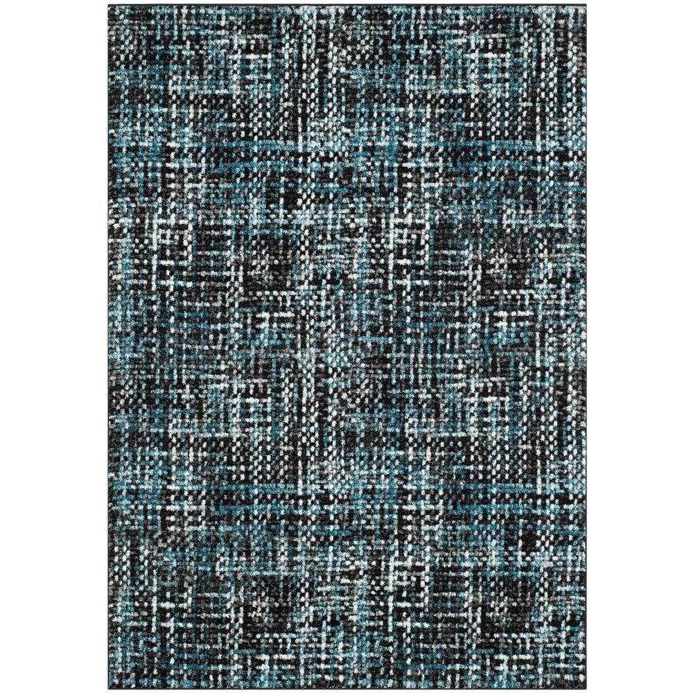Porcello Charcoal/Blue 6 ft. 7 in. x 9 ft. Area Rug