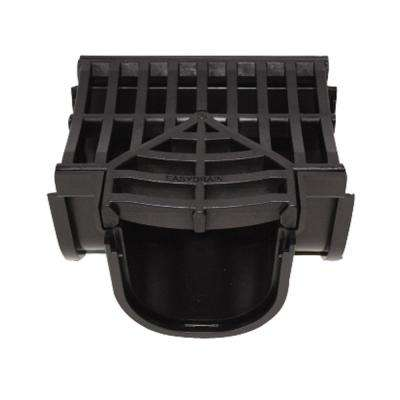 Easy Drain Series Tee for 5.4 in. Deep Trench and Channel Drain Systems in Black
