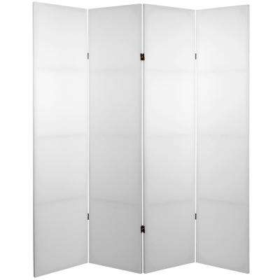 6 ft. White 4-Panel Blank Canvas Room Divider