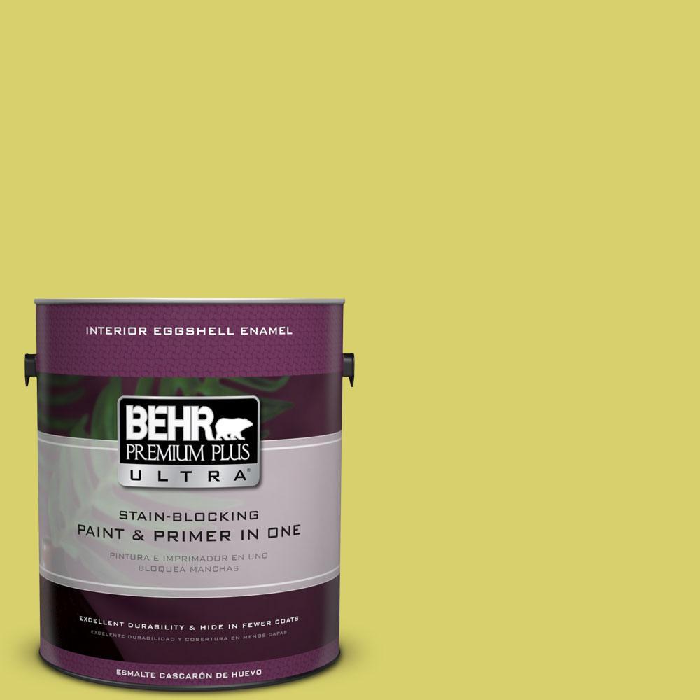 BEHR Premium Plus Ultra 1-gal. #P340-4 Lime Tree Eggshell Enamel Interior Paint