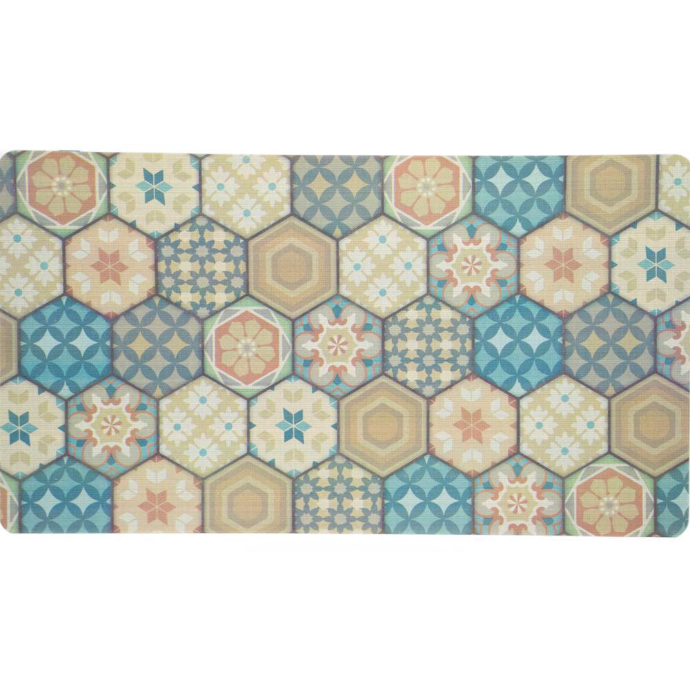 Apache Mills Harrison Hexagon Tiles 20 In. X 36 In. Foam Mat