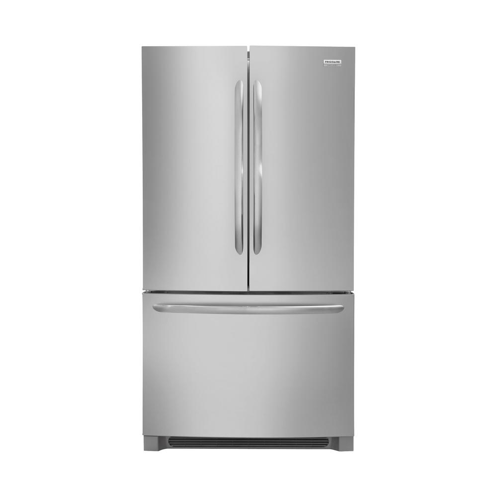 Frigidaire Gallery 22 4 Cu Ft Non Dispenser French Door Refrigerator In Smudge