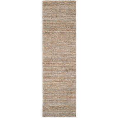 Cape Cod Gray/Sand 2 ft. x 8 ft. Runner