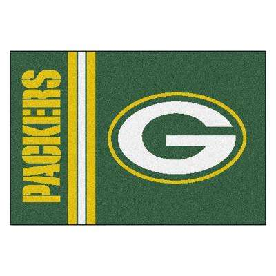 NFL - Green Bay Packers Green Uniform Inspired 2 ft. x 3 ft. Area Rug
