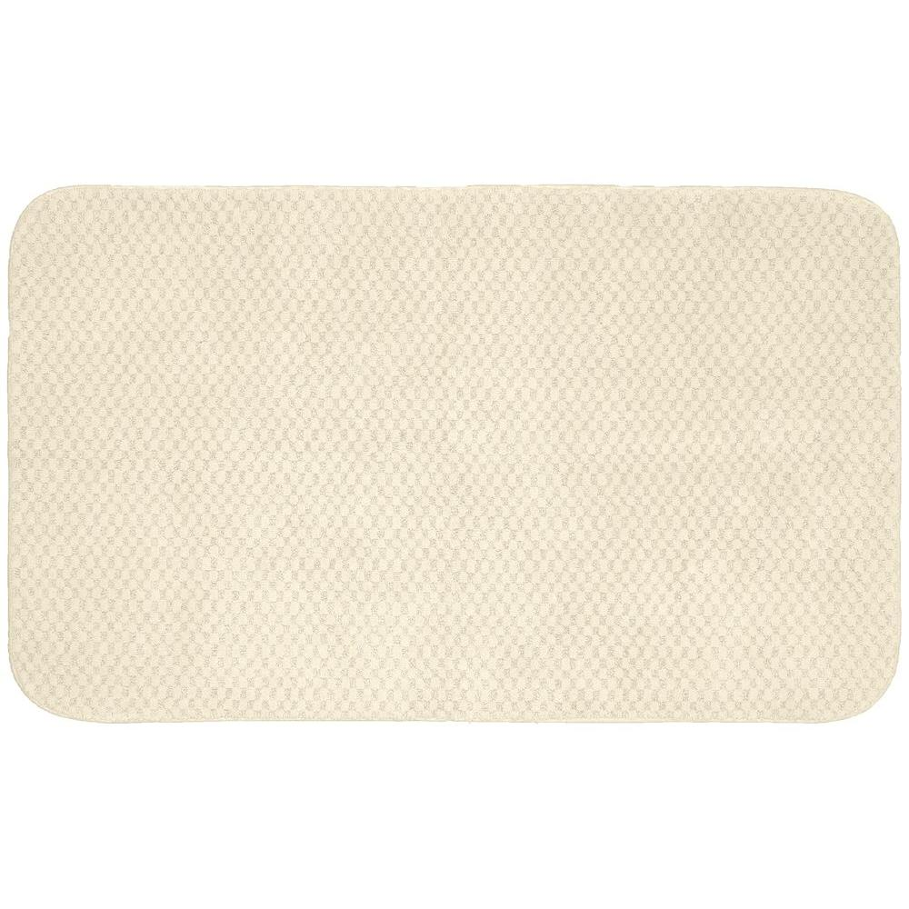 Garland Rug Cabernet Ivory 30 in. x 50 in. Washable Bathroom Accent Rug
