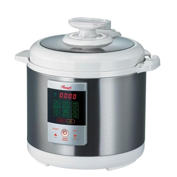 Rosewill 7-in-1 Multi-Function 6.3 Qt. White Stainless Steel Electric Pressure Cooker