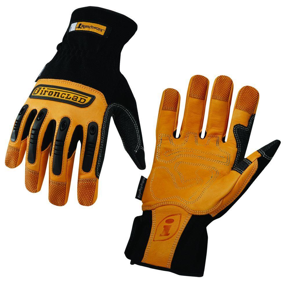 Ironclad Ranchworx Leather Medium Gloves-DISCONTINUED
