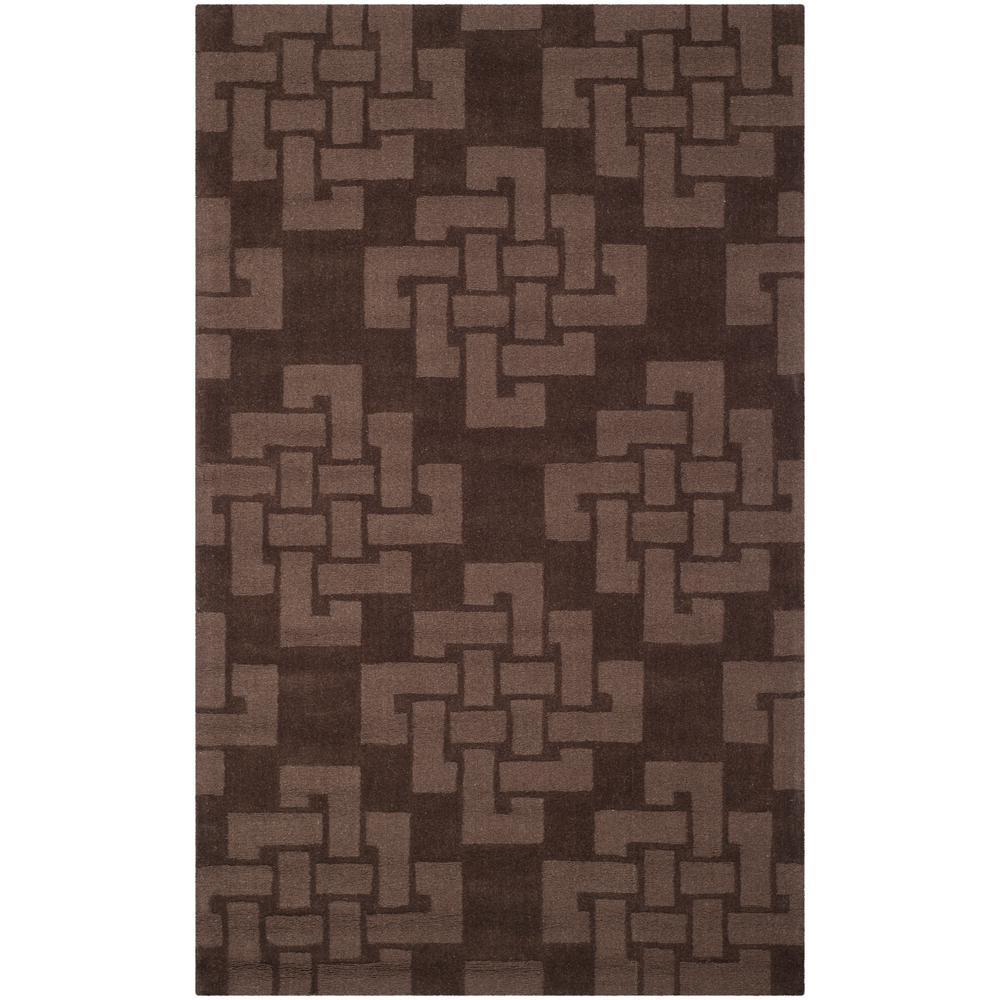 Martha Stewart Chocolate Truffle 4 ft. X 6 ft. Area Rug