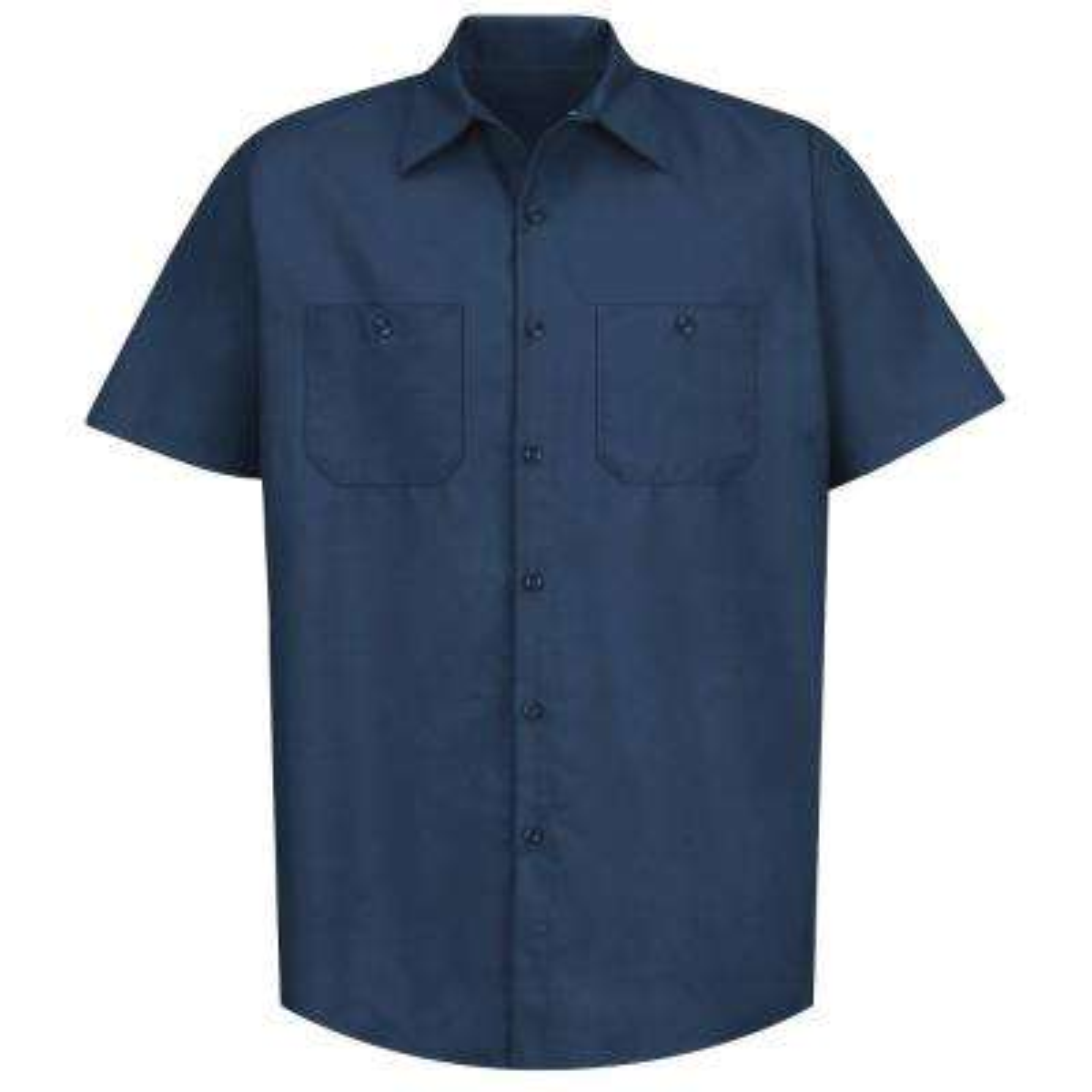 Men's Size M (Tall) Navy Industrial Work Shirt