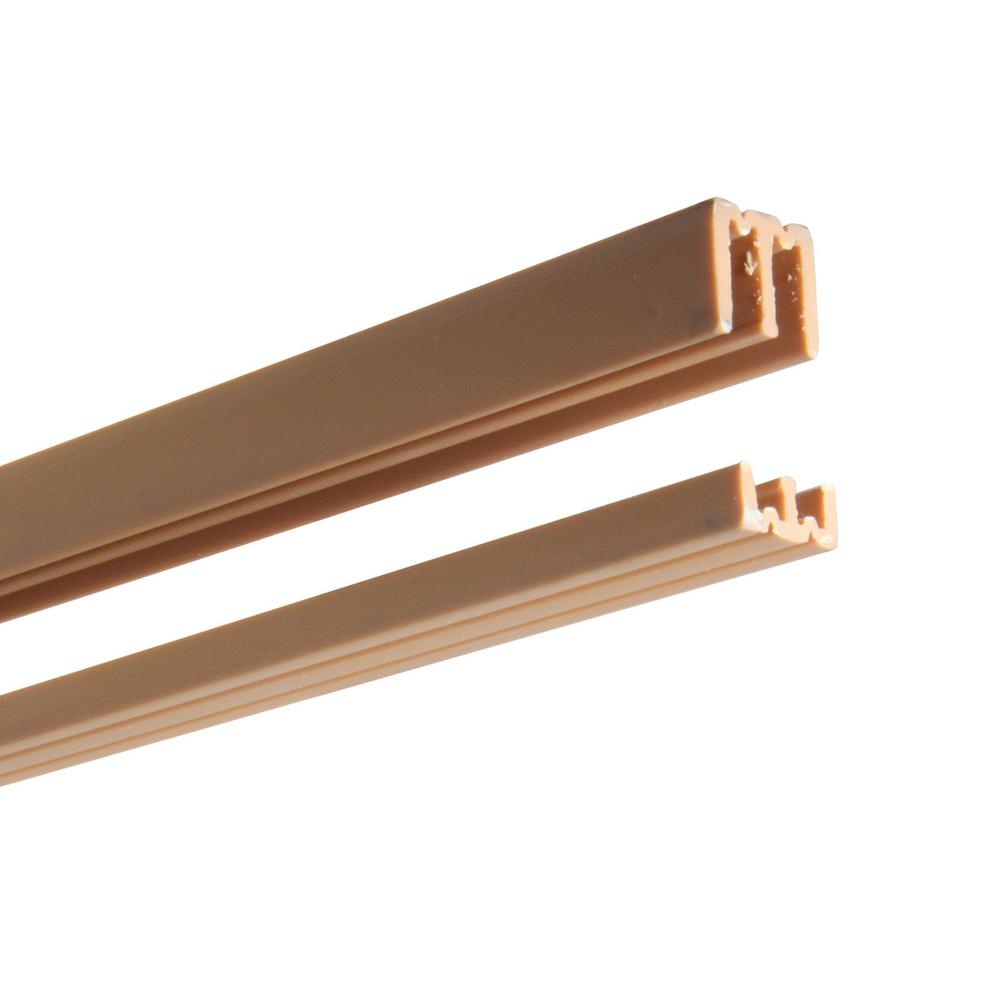 Series in tan plastic door track assembly p