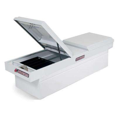 71.5 White Steel Full Size Crossbed Truck Tool Box