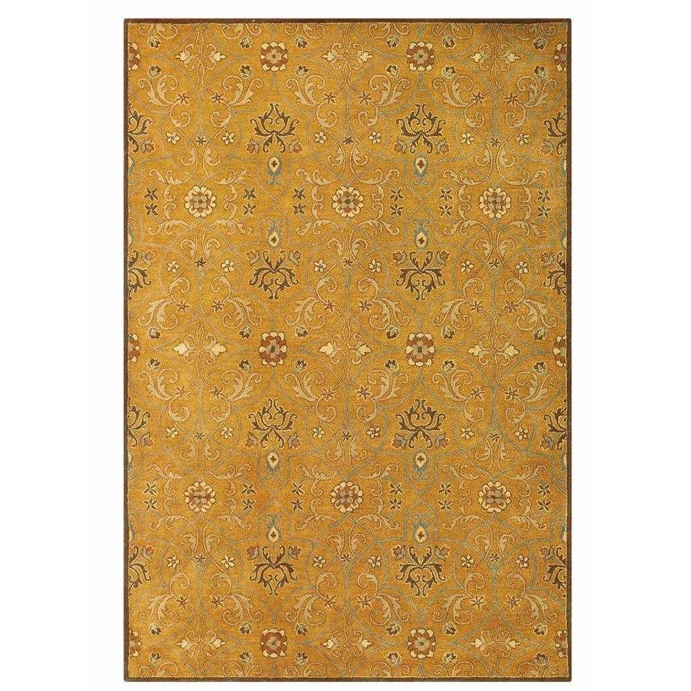 Home Decorators Collection Grimsby Amber/Gold 5 ft. 3 in. x 8 ft. 3 in. Area Rug