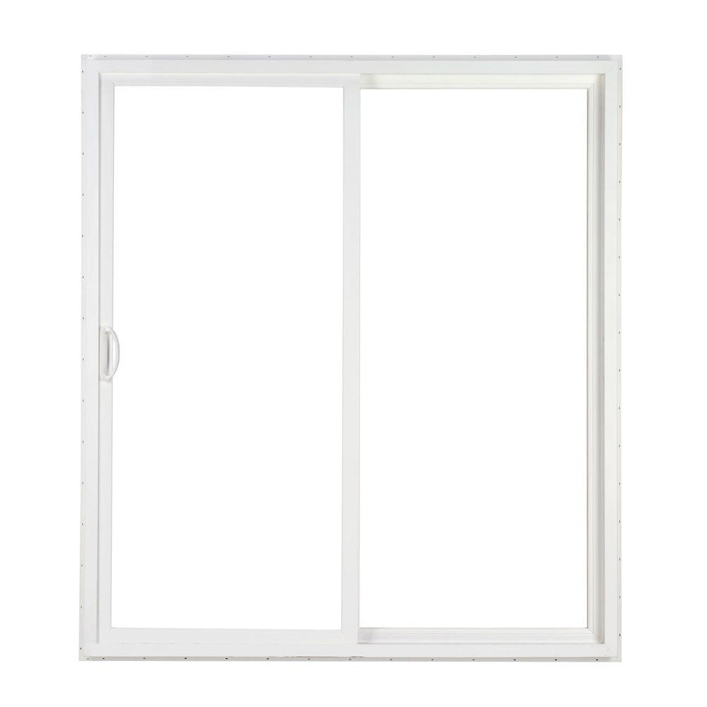 Simonton 96 in x 80 in 2 panel contemporary vinyl for Sliding panel doors interior
