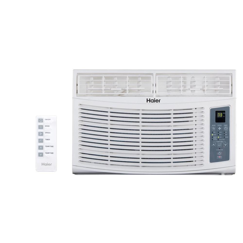 Haier 8,000 BTU Window Air Conditioner with Remote on