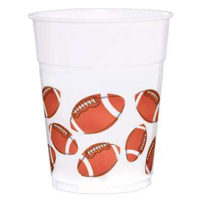 3.75 in. x 4.25 in. 16 oz. Football Printed Plastic Cups