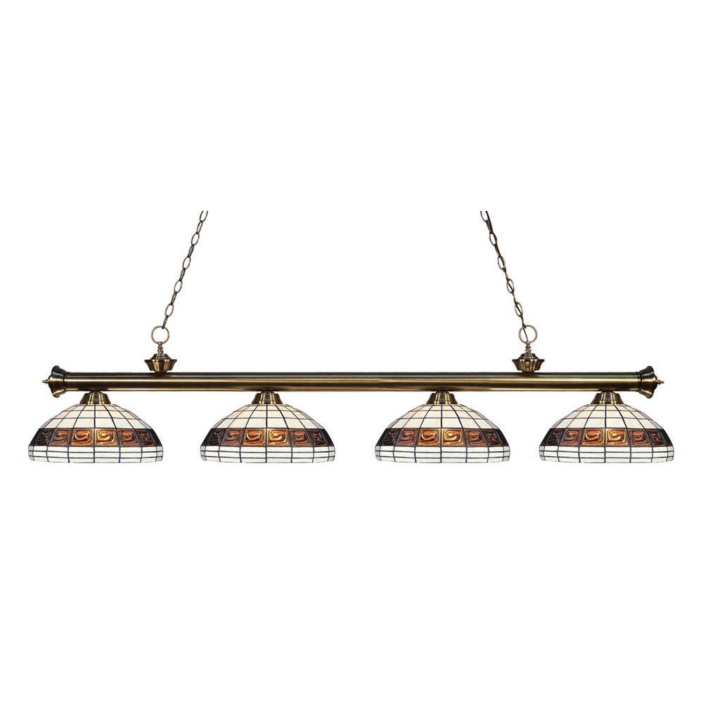 Filament Design Coastal 4-Light Antique Brass Island Light