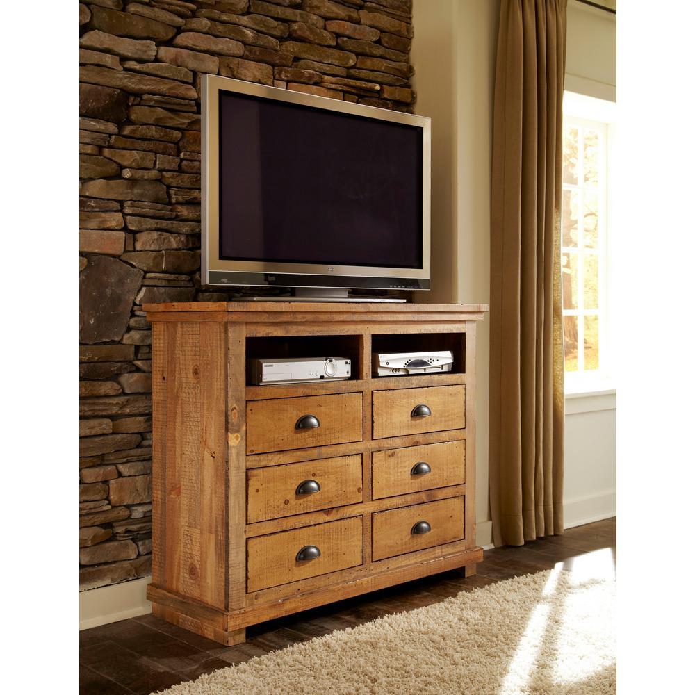 Progressive Furniture Willow 6 Drawer Distressed Pine