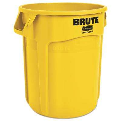 BRUTE 20 Gal. Yellow Round Trash Can